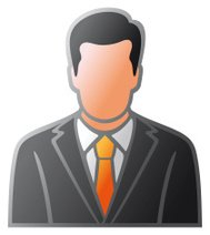 user icon of man in business suit