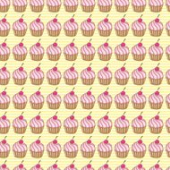 Cupcakes Seamless Background