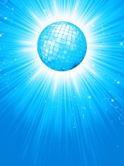 Blue disco rays with stars. EPS 8