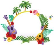 Tropical Abstract Banner