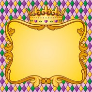 Mardi Gras Crown Frame