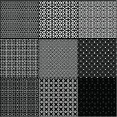 Black and white pattern background