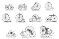 Collection of 19th century bicycles and tricycles