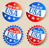 Made In the USA Ribbon Tag