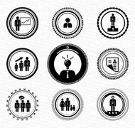 Vector business success icons