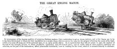 The great engine match - 1840s engraving
