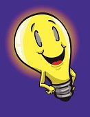Happy cartoon lightbulb!