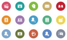 communication and social media icons