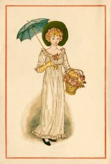 Regency-style young woman - Kate Greenaway, 1884
