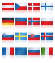 Popular Flat Flag Central Europe