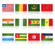 Popular Flat Flag West North Africa Two