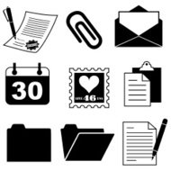 document and office supply icons