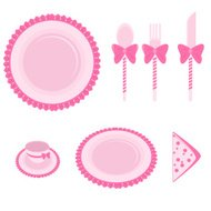 Pink Dining Plate Set