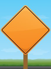 Orange Road Construction Sign