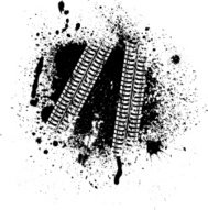 Ink blots and tire track