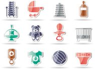 Child, Baby Online Shop Icons