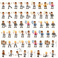 Big set of office manager. 10eps vector illustration