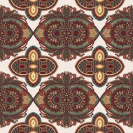 vintage floral paisley seamless pattern