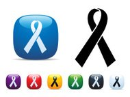 Charity Ribbon Icon Set