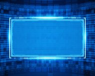 Abstract virtual technology vector background