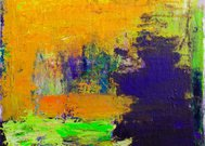 Abstract painted orange and green   art backgrounds.