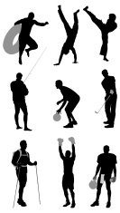 Silhouette of sports people