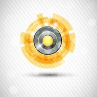 Abstract yellow background with drops. Vector