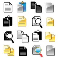 page and document icons