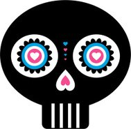 Simple Mexican Day of the Dead Skull