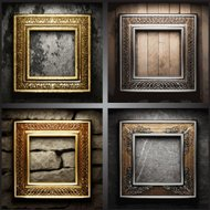 vector retro frame set