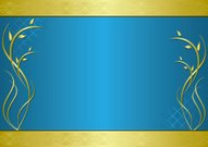 golden and blue vector frame with gradient