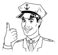 Retro Sailor Giving The Thumb's Up