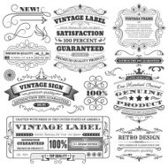 Vintage Labels, Frames and Design Elements with Copy Space