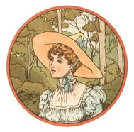 Young woman in a hat (Victorian illustration)
