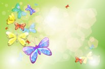 Stationery with colorful butterflies