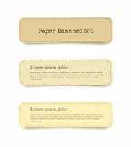 recycled paper banner set