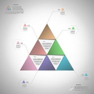 Infogrphic triangle for data presentation