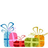 vector gift boxes background