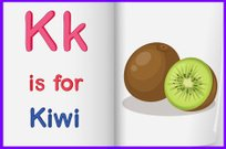 Picture of kiwi fruit in a book