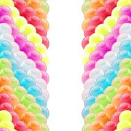 Background with glossy multicolored balloons.