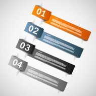 Color paper templates for progress presentation