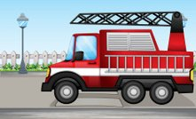 Fire truck at the street