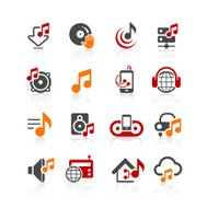 Music and audio icons | alto series