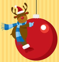 Reindeer with Christmas decoration