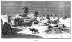 Lydda (Lod) in the Middle East - Victorian engraving