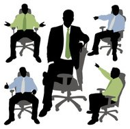 Businessman in Office Chair Series