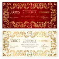 Voucher (gift certificate) template (banknote, money, currency,
