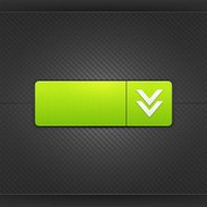 Green icon with arrow download sign web internet button