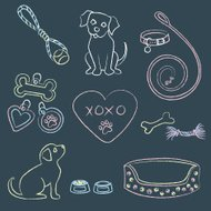 Chalk Puppies and Items
