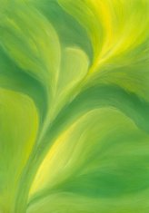 Green Floral Painted Background